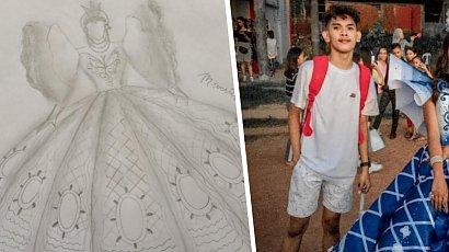 Nie miała pieniędzy, by kupić wymarzoną suknię na bal! Brat stworzył dla niej prawdziwe arcydzieło!