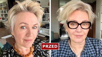 """Agnieszka Pilaszewska w long bobie i miodowym blondzie! Gwiazda """"Miodowych lat"""" zaskoczyła fryzurą!"""