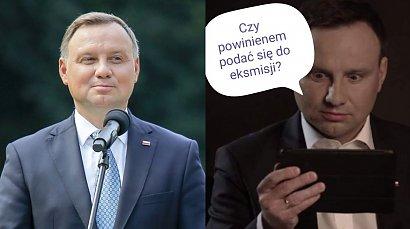 """Prezydent Andrzej Duda zaliczył wpadkę. Zamiast """"insurekcja"""" napisał """"rezurekcja"""". Powstały memy"""