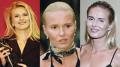 Hanna Lis obchodziła 51 urodziny! Przypominamy jej fryzury: kucyk, opaska na włosy, platynowy blond, miodowy blond [STARE ZDJĘCIA]
