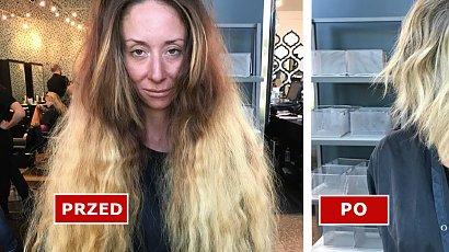 Ta kobieta przeszła drastyczną metamorfozę! Long bob i nowy odcień blondu zupełnie ją odmieniły. Efekt WOW!