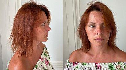 Przyszła do fryzjera z taką fryzurą. Przedłużył i zagęścił jej włosy oraz zmienił kolor! Efekt, wow!