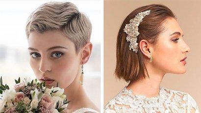 Fryzury ślubne dla krótkich włosów - 10 czarujących pomysłów
