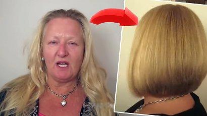 Spalone rozjaśniaczem włosy zamieniły się w istne cudo! Long bob i słoneczny blond!