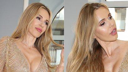 Doda pokazała złotą sukienkę, w której wystąpi na festiwalu Sopocie! Sztos! Prawie nic nie zasłania!