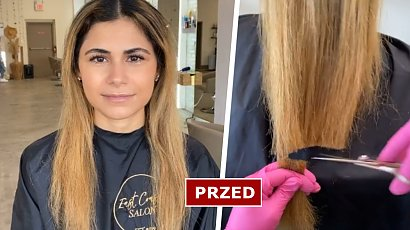 Ta dziewczyna przeszła imponującą metamorfozę! Blond włosy to już przeszłość! Nowa fryzura robi wrażenie!