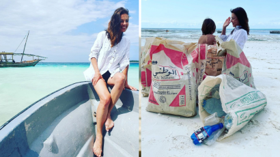 Katarzyna Glinka posprzątała plażę na Zanzibarze. Nie wszystkim się to spodobało
