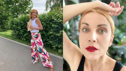 """Kasia Zielińska pokazała się bez makijażu. Nie wstydzi się swoich zmarszczek i niedoskonałości:""""Jak śpiąca królewna"""" - ktoś napisał"""
