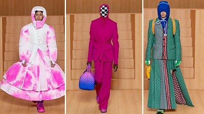 Moda męska prosto z wybiegu. Najnowsze trendy z Paryża internautom nie do końca się podobają...
