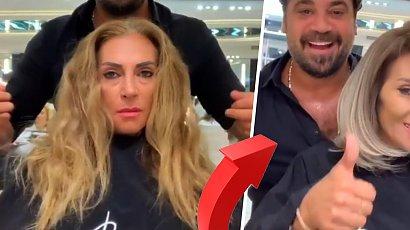 Miała zniszczone włosy. Fryzjer dokonał cudu! Long bob i platynowy blond ją totalnie odmienił
