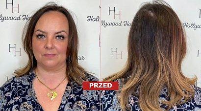 Miała cienkie i zniszczone pukle! Po przedłużeniu włosów i w ombre balejaż wygląda jak inna osoba!