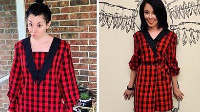 Kupuje tanie ubrania w sklepach z używaną odzieżą i zamienia je w modowe stylizacje. Wygląda obłędnie!