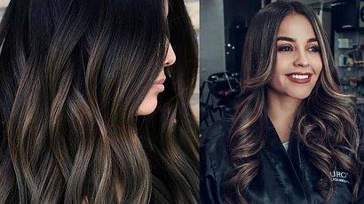 Smoky brunette - najmodniejsza koloryzacja sezonu, idealna dla brunetek!