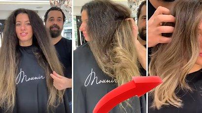 Miała zniszczone włosy do pasa. Fryzjer zrobił jej sombre i long boba. Nieziemska przemiana!