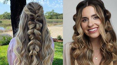 Bubble braids - warkocze idealne na wesele w stylu boho!