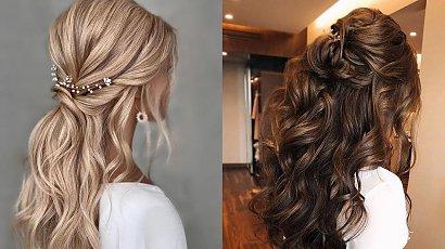 Fryzura na wesele 2021 - rozpuszczone włosy, półupięcie, długie włosy. 10 efektownych fryzur