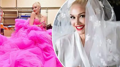 Gwen Stefani wyszła za mąż! Króciutka suknia ślubna i białe kowbojki. Jak Wam się podoba?