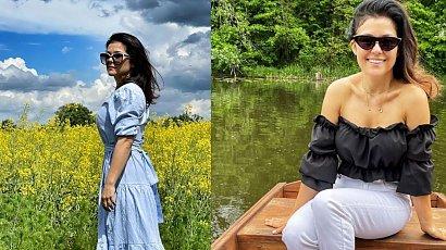 """Katarzyna Cichopek prezentuje swoje kształty na Mazurach! """"Genialne zdjęcie. Adam ma oko do tego""""!"""