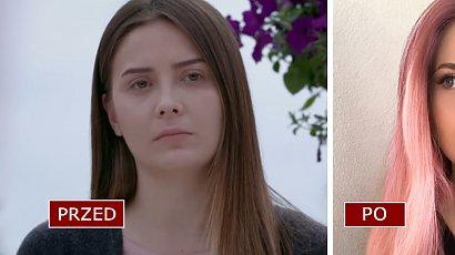 """Melek z serialu """"Elif"""" przeszła metamorfozę! W różowych włosach jest nie do poznania. Co za fryzura!"""