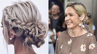 """Małgorzata Ohme w modnej fryzurze na wesele! Kok z warkoczem """"braid bun"""" to hit lata 2021!"""