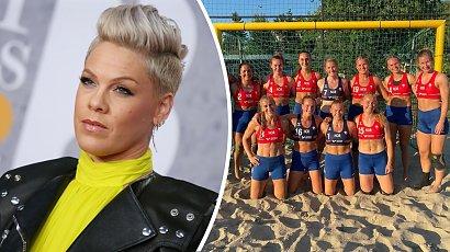 Pink wspiera norweskie szczypiornistki ukarane za odmowę gry w bikini! Wokalistka chce zapłacić całą grzywnę!