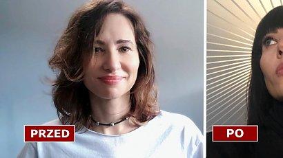 Aleksandra Popławska przeszła metamorfozę! W bobie z grzywką i czarnych włosach wygląda jak inna kobieta. SZOK!