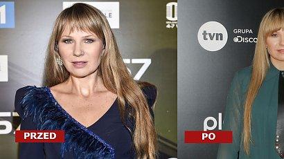 """Anna Guzik i jej fryzura na ramówce TVN. Fani podzieleni """"Dwa leżące ogonki"""" vs """"piękne naturalne włosy"""""""