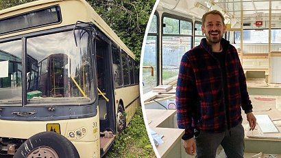 Zamienił stary autobus w wygodny dom! Gdy zajrzysz do środka, od razu zechcesz tam zamieszkać!