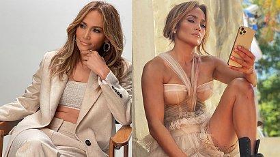 """J.Lo zachwyca na pokazie mody D&G. Fan pisze: """"Dlaczego masz na sobie zasłonę mojej babci?"""""""