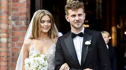 Joanna Opozda i Antoni Królikowski wzięli ślub! Panna młoda w sukni ślubnej typu księżniczka i z doczepianymi włosami!