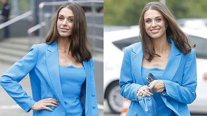 Julia Kamińska w niebieskiej sukience na ramówce TVN. A gdy zrzuciła marynarkę...
