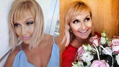 """Katarzyna Skrzynecka prezentuje fryzurę: """"Trochę jak mój cocker spaniel, gdy wraca ze spaceru"""" - podsumowała swoje włosy"""