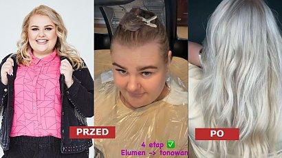"""Kinga Zawodnik zmieniła fryzurę! Platynowy blond w mroźnym odcieniu i proste włosy robią efekt """"wow"""""""