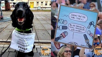Lex TVN - protesty w obronie TVN i wolnych mediów. Oto najmocniejsze hasła z transparentów
