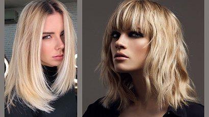Miodowy blond na włosach do ramion - topowe połączenie tego lata!