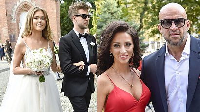 Tomasz Oświeciński na ślubie Królikowskiego z piękną żoną! Jej czerwona sukienka na wesele nas zauroczyła