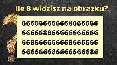 Ile ósemek widzisz na obrazku? Ta zagadka pobudzi Twój mózg do działania lepiej niż kawa!