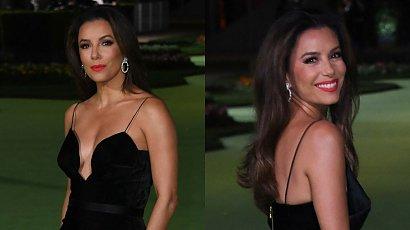 Eva Longoria w czarnej aksamitnej sukience z głębokim dekoltem skradła show! A gdy się odwróciła... WOW!