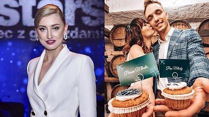Justyna Żyła pokazała partnera i sukienkę na wesele Karoliny Małysz! Czy biel i złoto to dobry wybór?