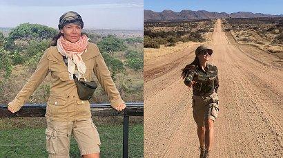 Kinga Rusin zaskoczyła fanów zdjęciem w obcisłej bieliźnie i puchowej kurtce. Dlaczego prezenterka wybrała taki strój w Afryce?