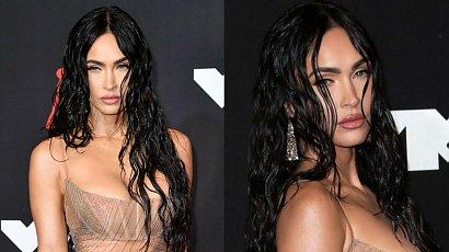 MTV VMA: Megan Fox w przezroczystej sukience! Nie zasłoniła kompletnie nic! A gdy się odwróciła... Szok!