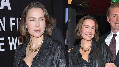 Olga Bołądź w skórzanej stylizacji od stóp do głów. U jej boku nowy partner. Pasują do siebie?