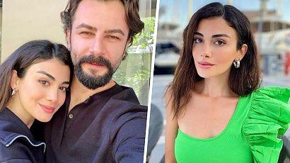 """Reyhan z """"Przysięgi"""" w satynowej, niebieskiej sukience! Özge Yağız znów olśniła fanów. Ależ ona ma figurę!"""