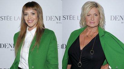 Malwina Wędzikowska i Ewa Kasprzyk w takim samym zielonym płaszczu. Prawie skoczyły sobie do gardeł!