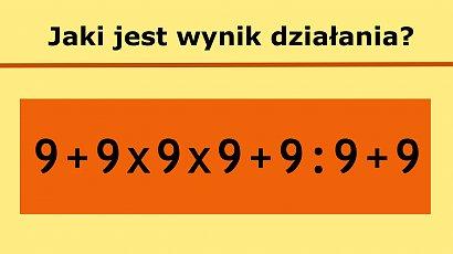 Oto zagadka matematyczna, która sprawia trudność niejednej osobie. Potrafisz ją rozwiązać?