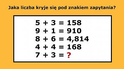Z tą matematyczną zagadką radzą sobie tylko najbystrzejsi! Sprawdź, czy należysz do ich grona!