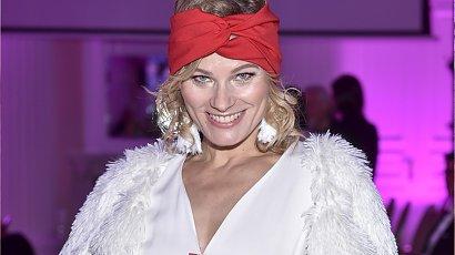 Anna Głogowska w czerwonej opasce i stylizacji miażdżącej sylwetkę. Ozdobą był jej piękny uśmiech!