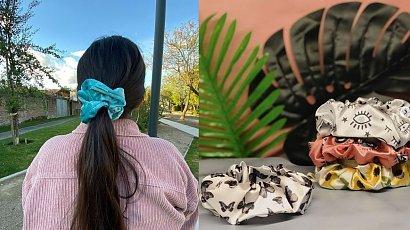 Gumka do włosów typu scrunchie! Idealna do jesiennych upięć!