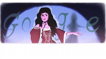 Helena Modrzejewska w rocznicę urodzin, uwieczniona grafiką w popularnej wyszukiwarce!