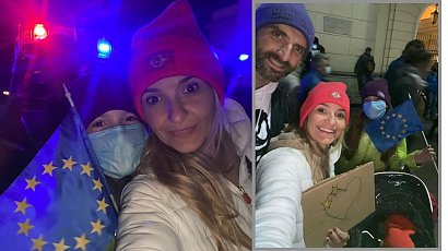 Joanna Koroniewska dodała zdjęcie z demonstracji. W komentarzach rozpętała się burza...